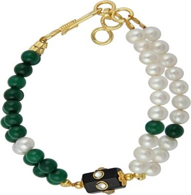 Pearlz Ocean Alloy Pearl Yellow Gold Bracelet