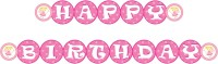 Untumble Fairy Theme Happy Birthday Bunting Pennant Banner(2 ft, Pack of 1)