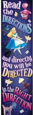 Unknown Eureka Alice In Wonderland Directions Vertical Banner Pennant Banner