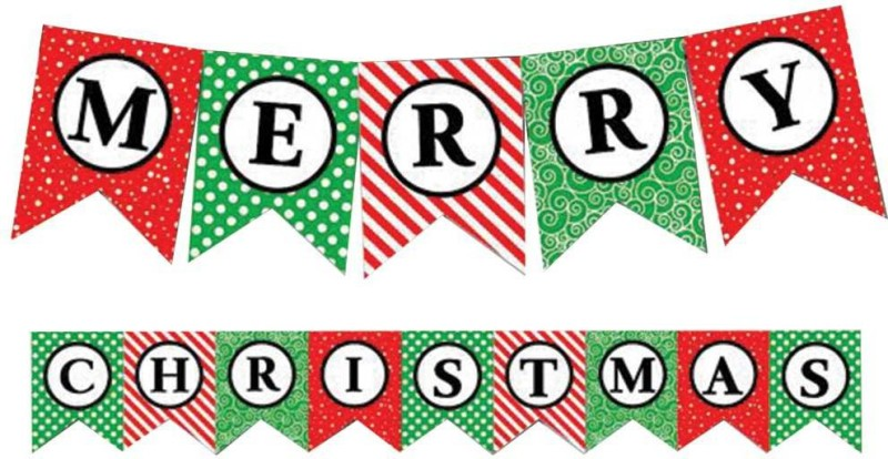 Party Propz Enjoy Christmas Banner(7 ft, Pack of 1)