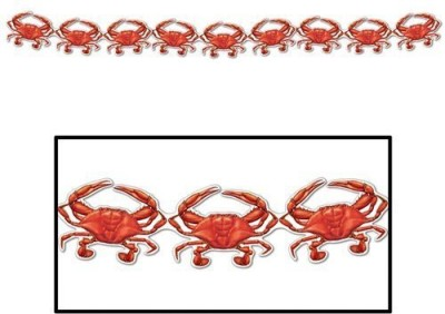 Beistle Crab Streamer Party Accessory Pennant Banner