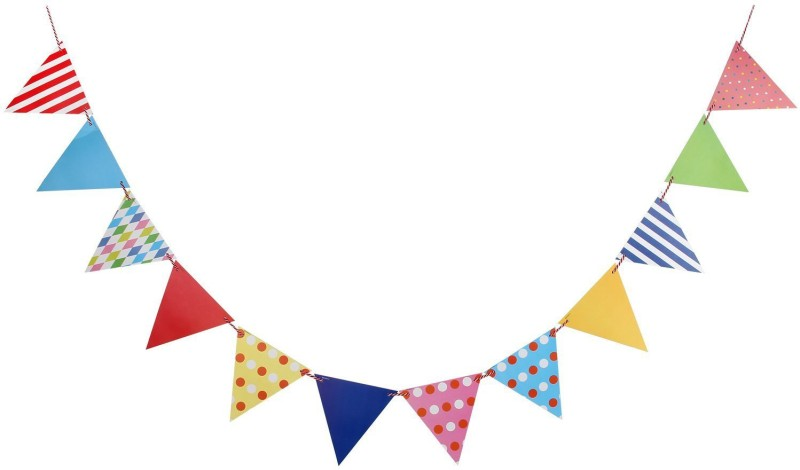 GrandShop Party Decoration Garland Pennant Flag(8 ft, Pack of 12)