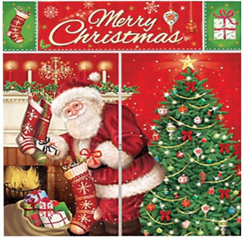 Party Propz Santa is coming Backdrop Banner(6 ft, Pack of 1)