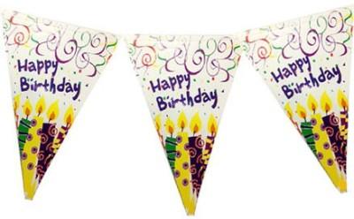 Planet Jashn Planet Jashn Happy Birthday Candles Buntings Pennant Flag