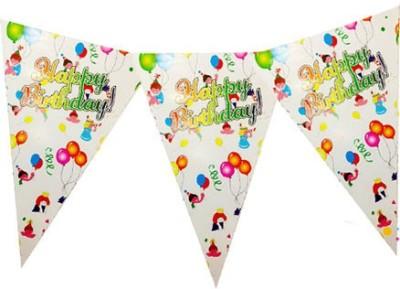Planet Jashn Planet Jashn Happy Birthday Kids with Balloon Buntings Pennant Flag