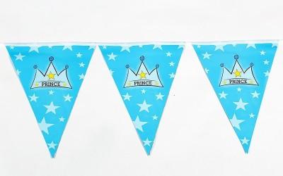 Funcart Prince Crown Flag Banner