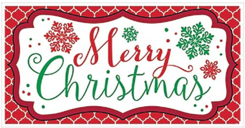 Party Propz Merry Christmas Banner(5 ft, Pack of 1)