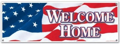 Beistle Welcome Home Sign Banner Party Accessory Banner