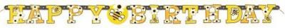 Unique Bumble Bee Happy Birthday Banner Banner