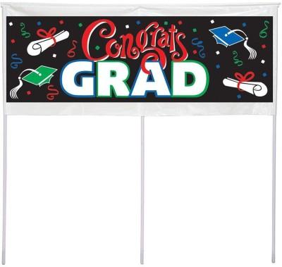 Creative Converting Mens Congrats Grad Banner
