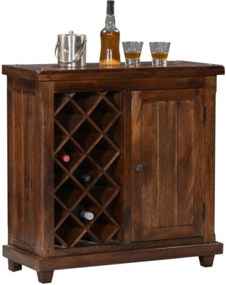 HomeEdge Solid Wood Bar Cabinet(Finish Color - Provincial Teak)