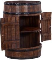 Ringabell Alcodrum Bar Solid Wood Bar Cabinet(Finish Color - Teak)