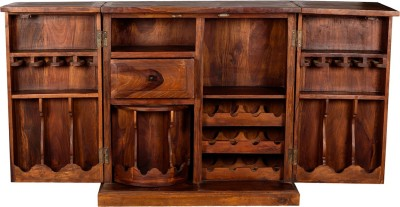 Rishabh Art Solid Wood Bar Cabinet