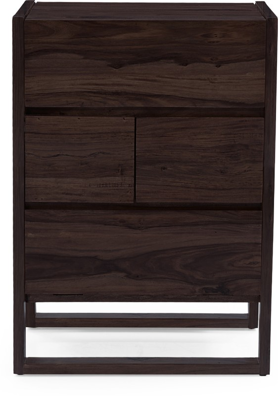 Urban Ladder Macallan Solid Wood Bar Cabinet(Finish Color - Mahogany)