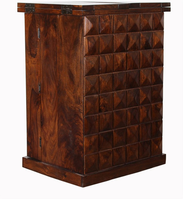 The Attic Solid Wood Bar Cabinet(Finish Color - Walnut)