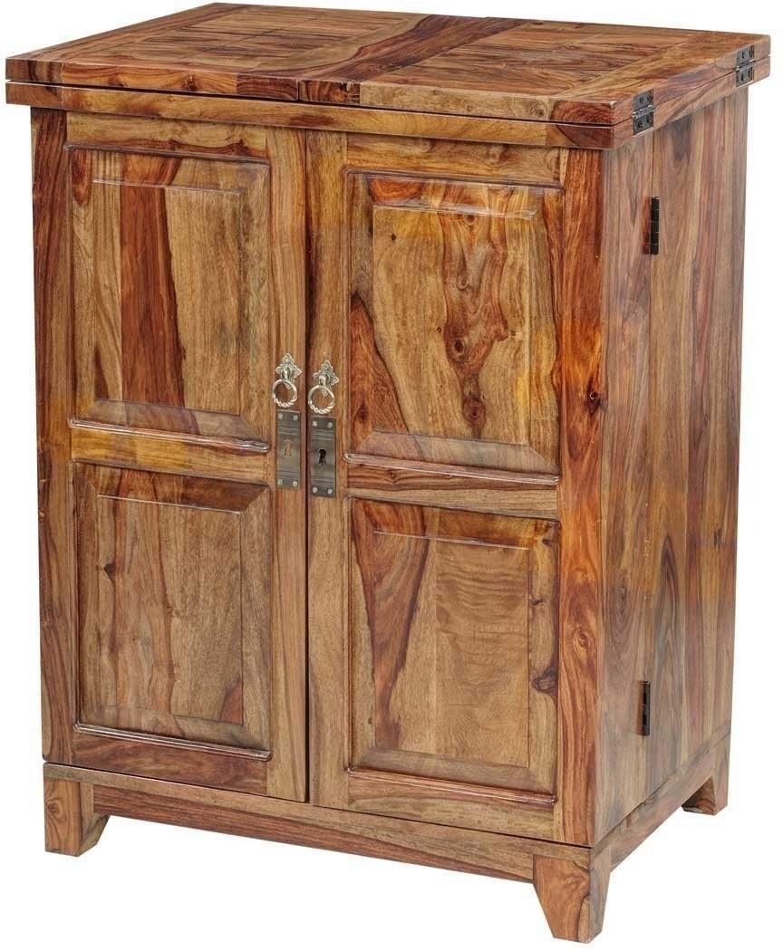 Ringabell Vocatus Bar Solid Wood Bar Cabinet(Finish Color - Teak)