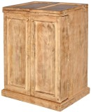 Shop Sting Solid Wood Bar Cabinet (Finis...