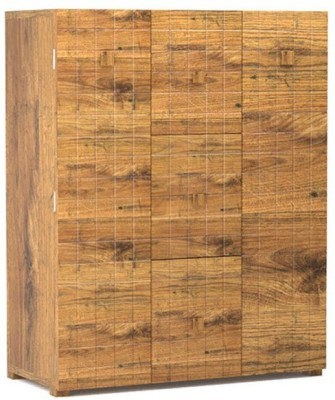 TEZERAC Solid Wood Bar Cabinet