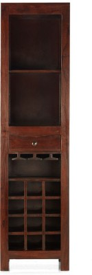 @home by Nilkamal Tally Solid Wood Bar Cabinet