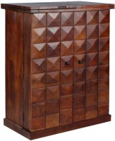 The Attic Solid Wood Bar Cabinet(Finish Color - Teak)