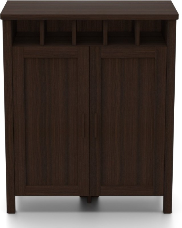 Urban Ladder Norland Engineered Wood Bar Cabinet(Finish Color - Dark Walnut)