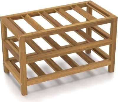 Urban Ladder Hakone Solid Wood Bar Cabinet(Finish Color - Natural Acacia)