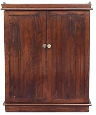 Ringabell Brewski Solid Wood Bar Cabinet(Finish Color - Honey)