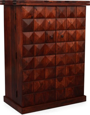InLiving Malta Solid Wood Bar Cabinet