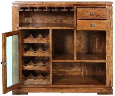 HomeTown Leopold Solid Wood Bar Cabinet(Finish Color - WALNUT ,BLACK)