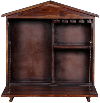 Ringabell Aperitif Solid Wood Bar Cabinet(Finish Color - Teak)