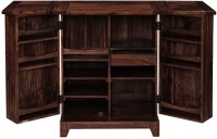Ringabell Sprit Bar Solid Wood Bar Cabinet(Finish Color - Mahogany)