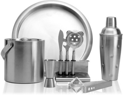 exciting Lives 9 - Piece Bar Set(Stainless Steel)