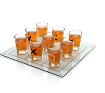 Its Our Studio Drinking Tic Tac game 9 - Piece Bar Set