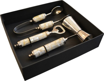 State of the Art White Mother of Pearl 3 - Piece Bar Set