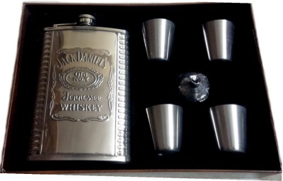 Pia International 9oz (266ml) Flask With Opener 6 - Piece Bar Set