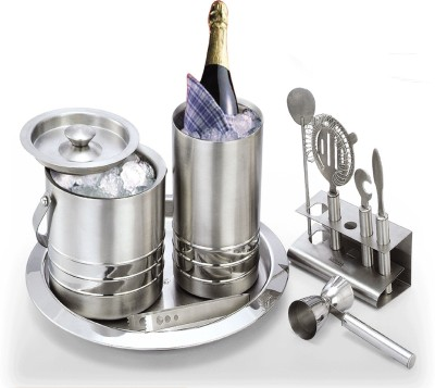 MAXELL Maxell Kingfisher Bar Set 9 - Piece Bar Set(Stainless Steel)