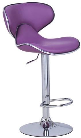 View Exclusive Furniture Metal Bar Stool(Finish Color - Purple) Furniture (Exclusive Furniture)