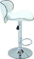 Arena Leatherette Bar Stool(Finish Color - White)