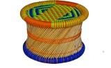 Skill India Cane Bar Stool (Finish Color...