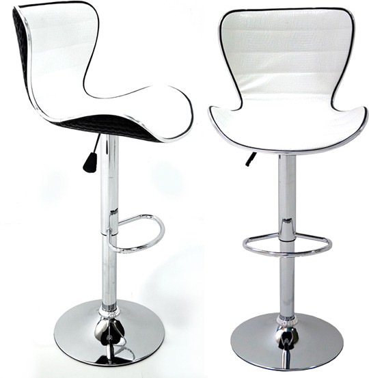 View Arena Leatherette Bar Stool(Finish Color - White) Furniture (Arena)