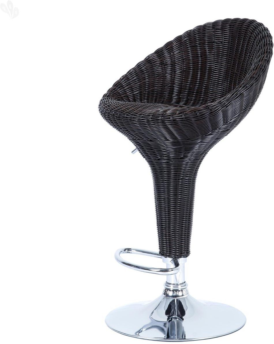 Royal Oak Rattan Synthetic Fiber Bar Stool