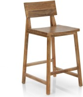 TheArmchair Barcelona Bar Stool Solid Wood Bar Chair(Finish Color - Natural)