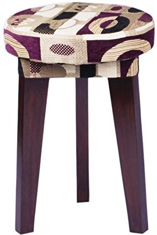 View Mubell Tecido Solid Wood Bar Stool(Finish Color - Walnut Brown) Furniture (Mubell)