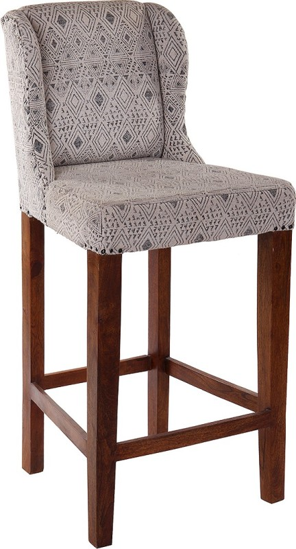 Natural Fibres Export Fabric Bar Chair(Finish Color - Dark Brown)
