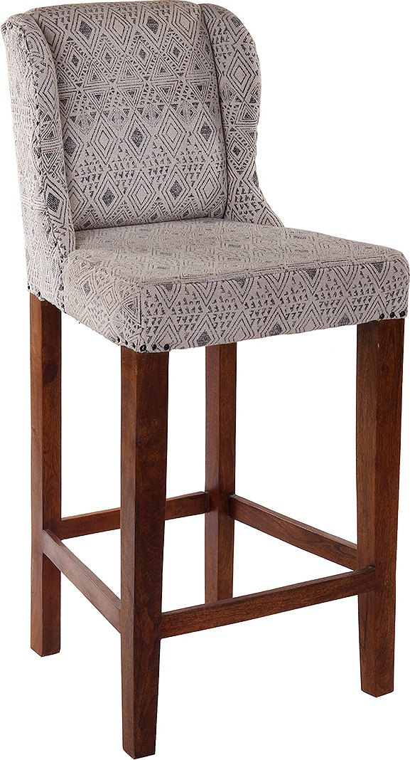 View Natural Fibres Export Fabric Bar Chair(Finish Color - Dark Brown) Price Online(Natural Fibres Export)