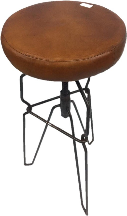 View LALJI HANDICRAFTS Metal Bar Stool(Finish Color - RUSTIC BROWN) Furniture (LALJI HANDICRAFTS)