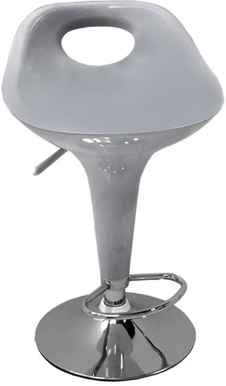 View Arena Synthetic Fiber Bar Stool(Finish Color - Silver) Furniture (Arena)