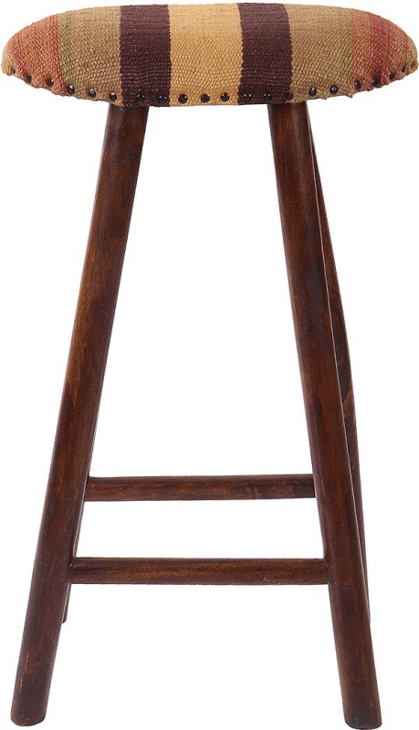 Natural Fibres Export Fabric Bar Stool(Finish Color - Dark Brown)