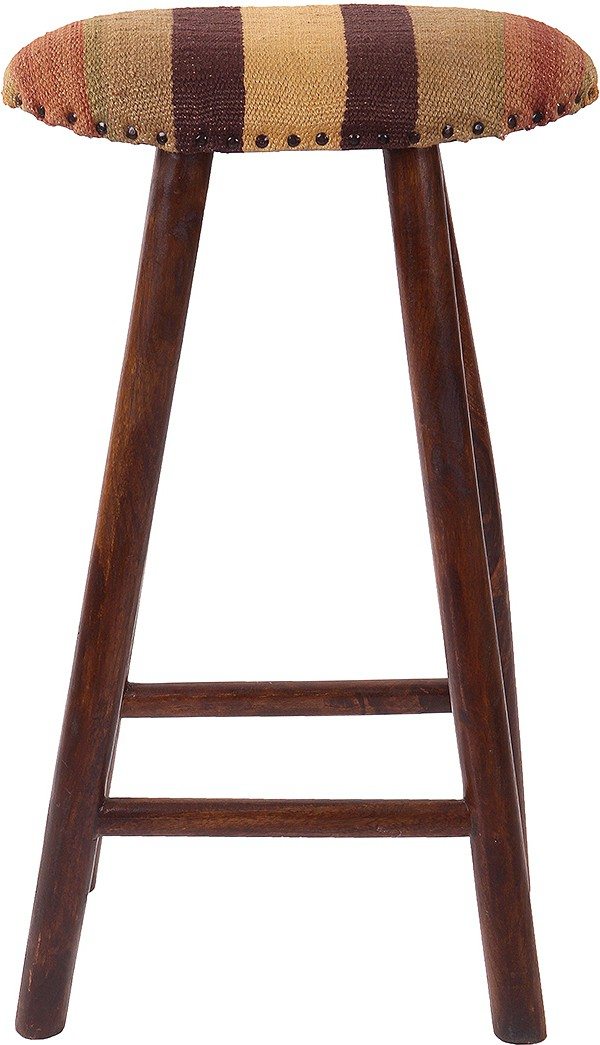 View Natural Fibres Export Fabric Bar Stool(Finish Color - Dark Brown) Price Online(Natural Fibres Export)