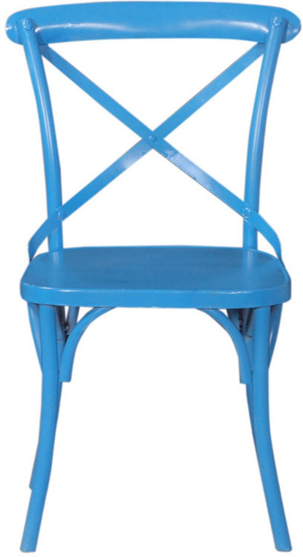 View The Maker's Point Metal Bar Chair(Finish Color - Blue) Furniture (The Maker's Point)